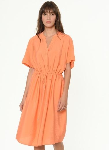 Ipekyol Ayarlanabilir Bel Elbise Oranj